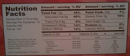 Magic Melt Nutrition Info
